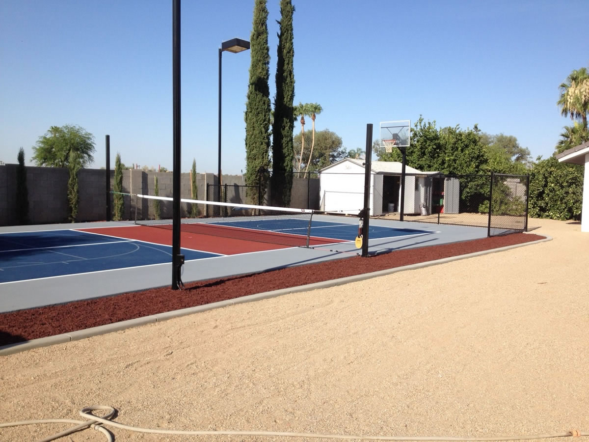 Basketball court design build general acrylics for Building a basketball court