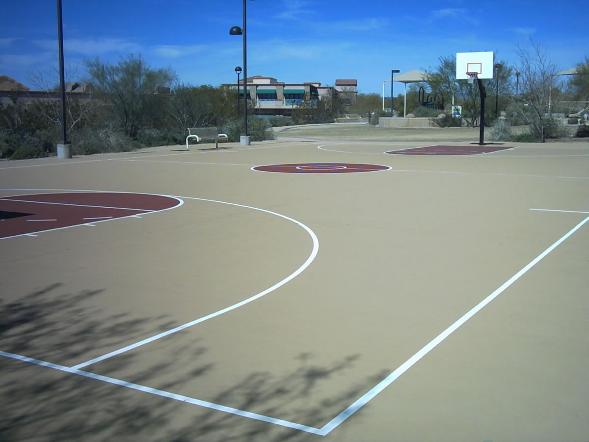 Basketball court design build general acrylics for How big is a basketball court