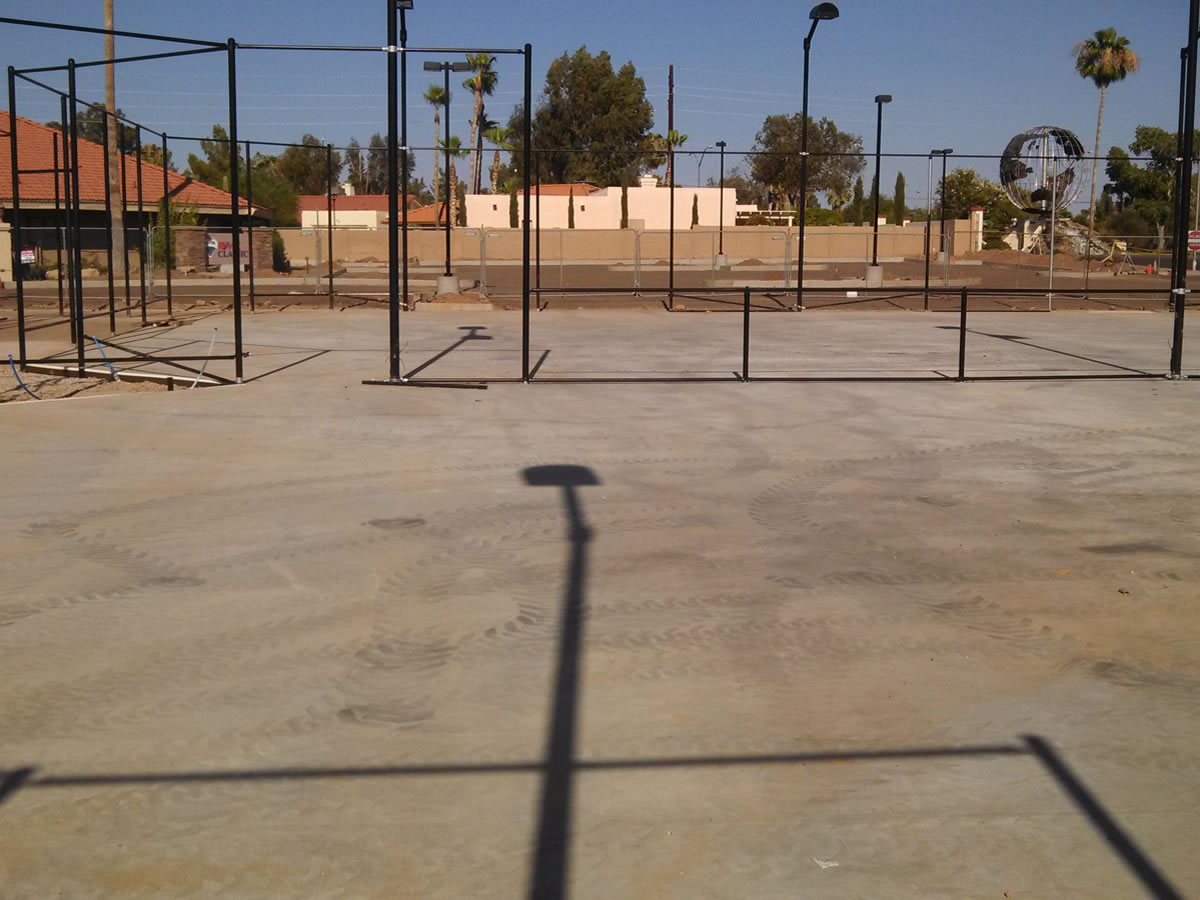 Post-Tensioned Concrete Court Construction